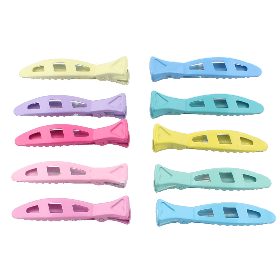 Metal Fish Shape DIY Hairstyle Alligator Hair Clip Barrette Assorted Color 10pcs