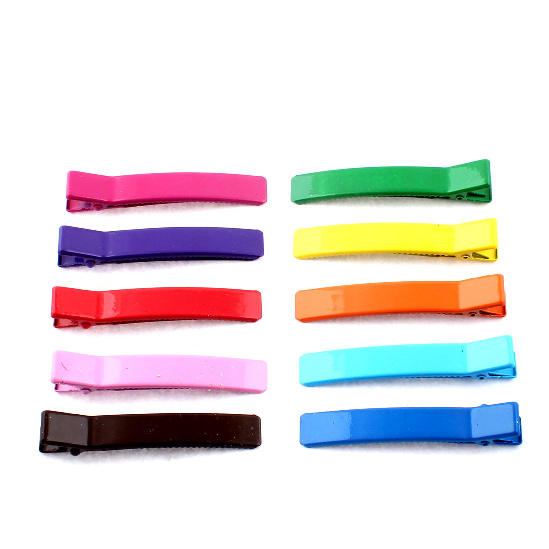 Ladies Hairstyle Metal Alligator Hair Clip Barrette Hairpin Assorted Color 10pcs