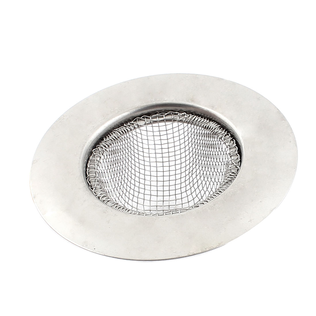 7cm Dia Home Kitchen Water Sink Bath Basin Waste Filter Strainer Silver Tone