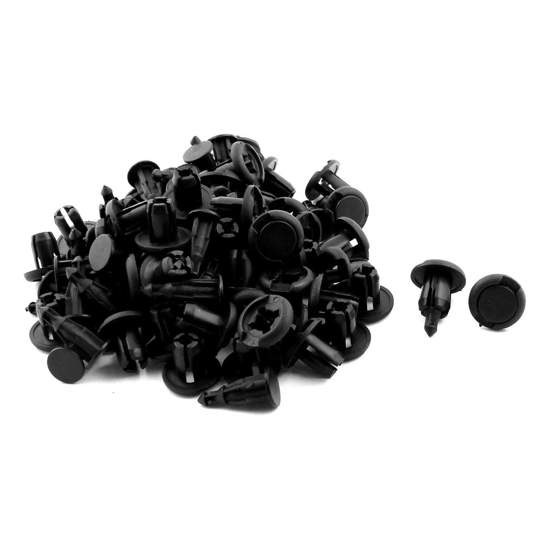 11mm Hole Car Bumper Fender Push Type Plastic Rivet Retainer Clip Black 50pcs