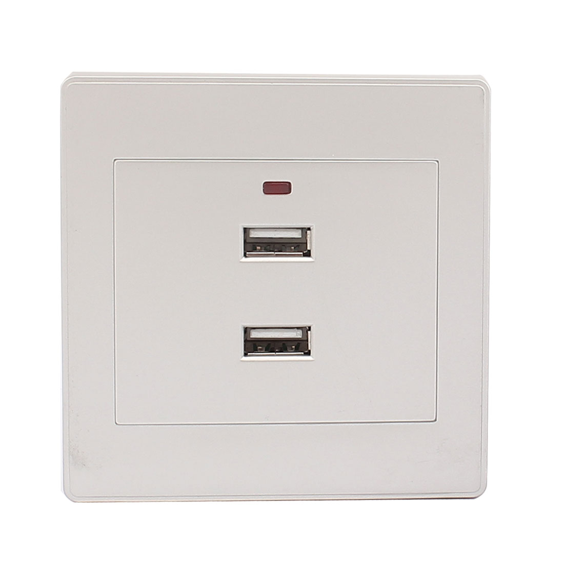 AC 220V-250V 2 USB Ports Charging DC 5V 2100mA Red Light Power Supply Wall Plate