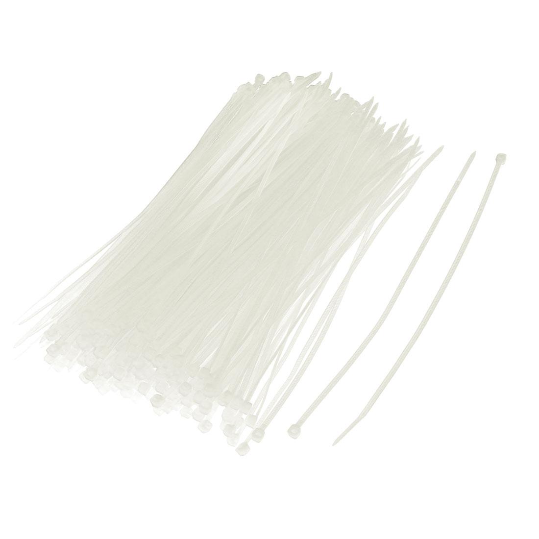 Nylon Self Lock Cable Organizer Fastener String Tie Off White 3 x 200mm 200pcs