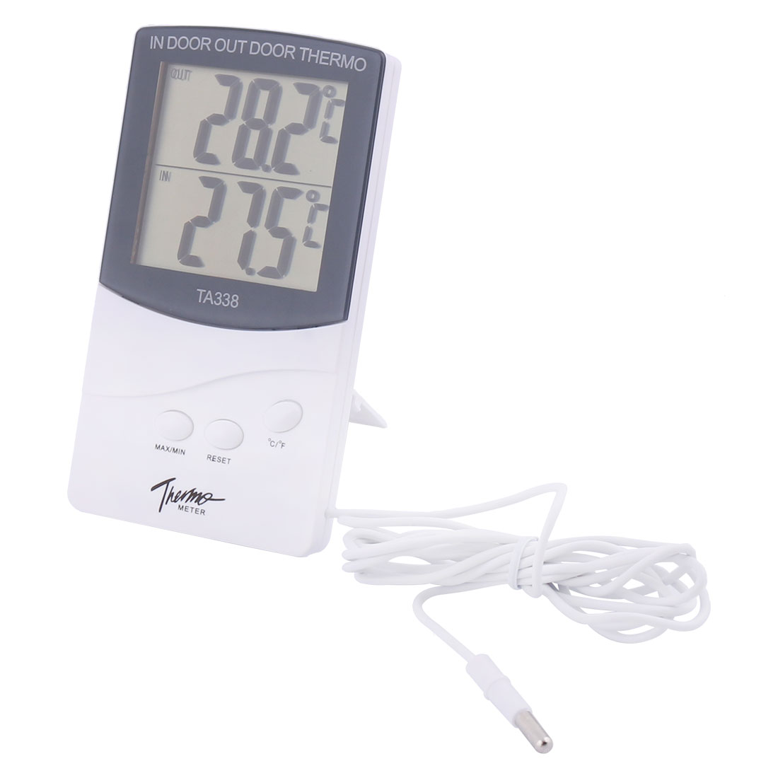 TA338 1.5m Line Plastic Indoor Outdoor LCD Digital Thermometer Hygrometer
