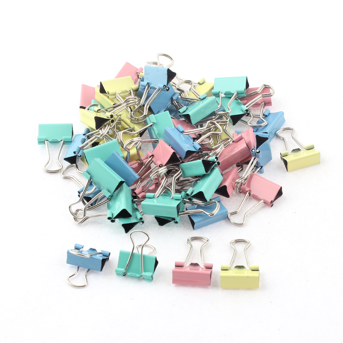 Home Office School Student Document Paper File Binder Clips Clamp 60pcs