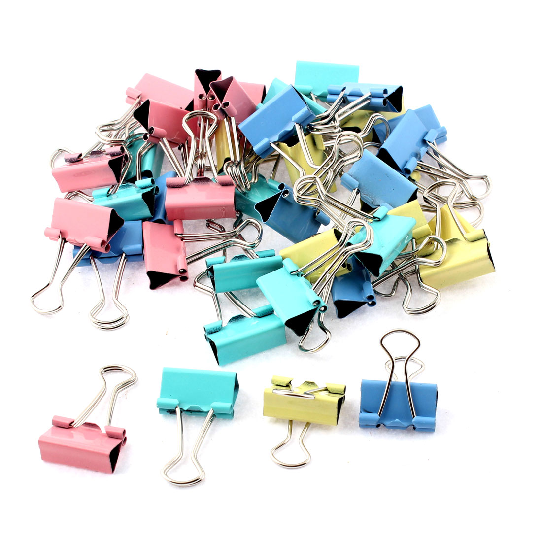 Home Office School Student Document Paper File Binder Clips Clamp Holder 40pcs