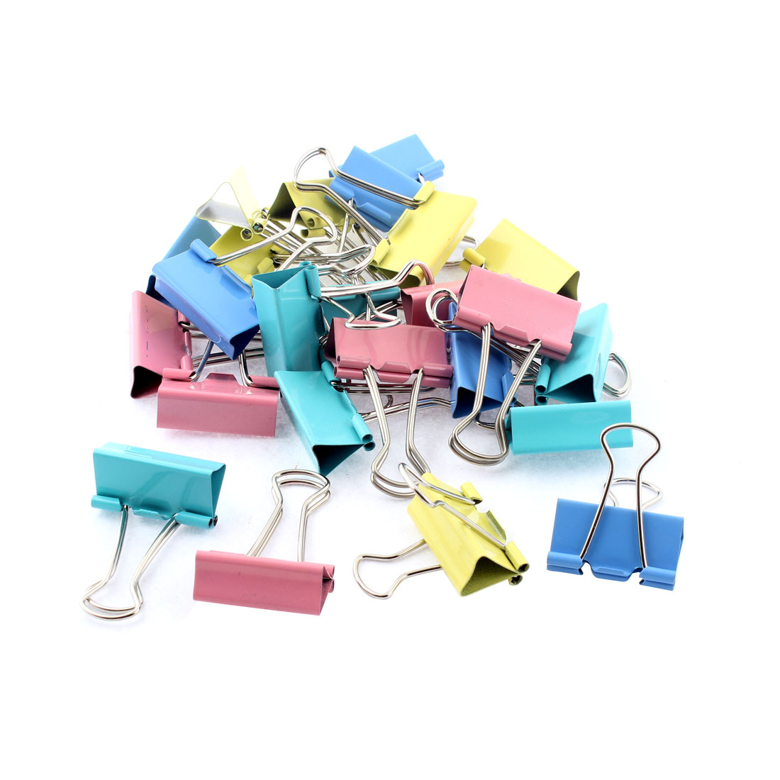 Office School Student Document Paper File Binder Clips Clamp Organizer 24pcs