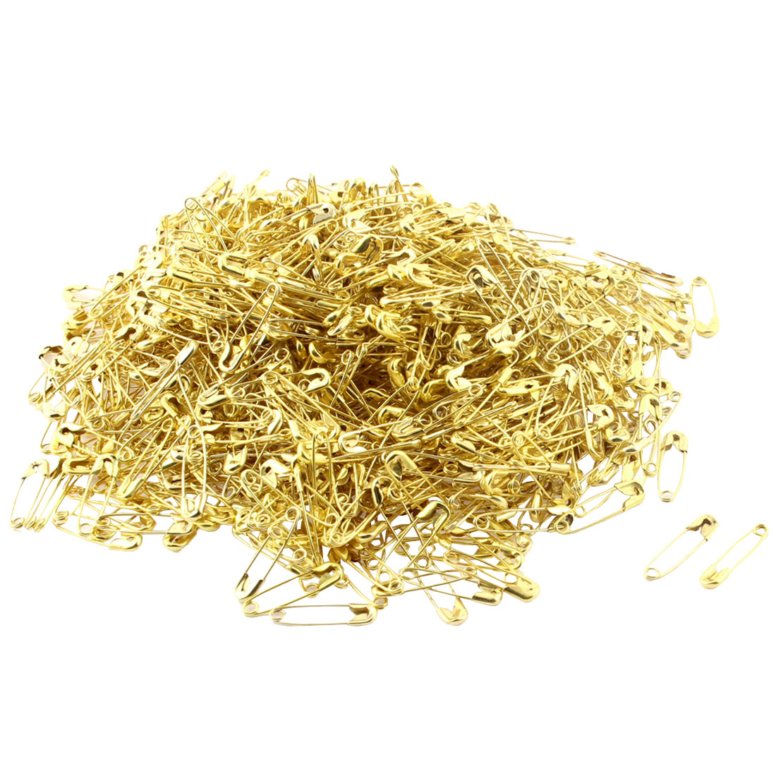 Costume Sewing Dressmaking DIY Craft Metal Tiny Safety Pins Gold Tone 1000pcs