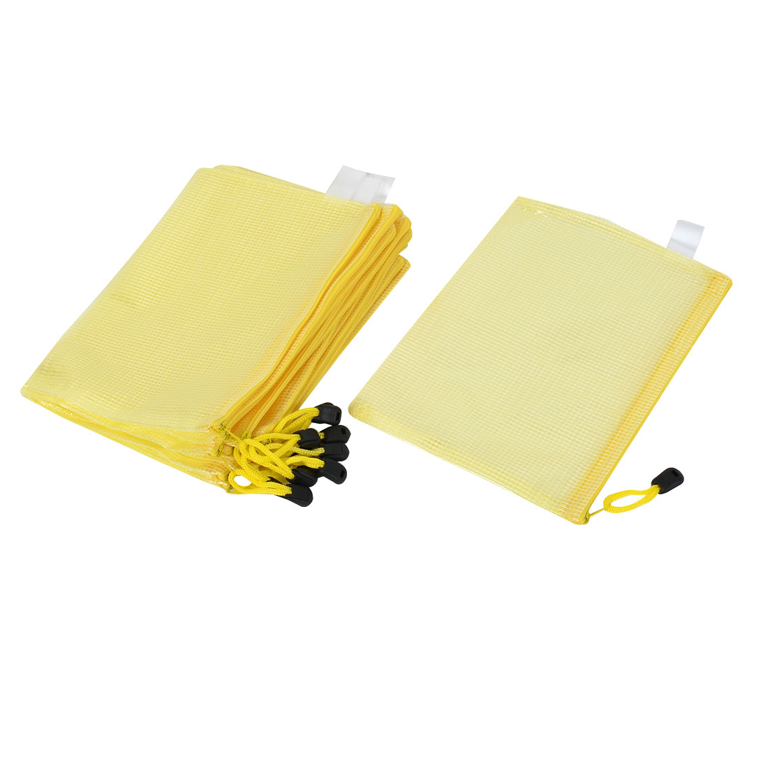 Office Waterproof A5 Document File Zippy Folder Holder Bag Yellow 12pcs