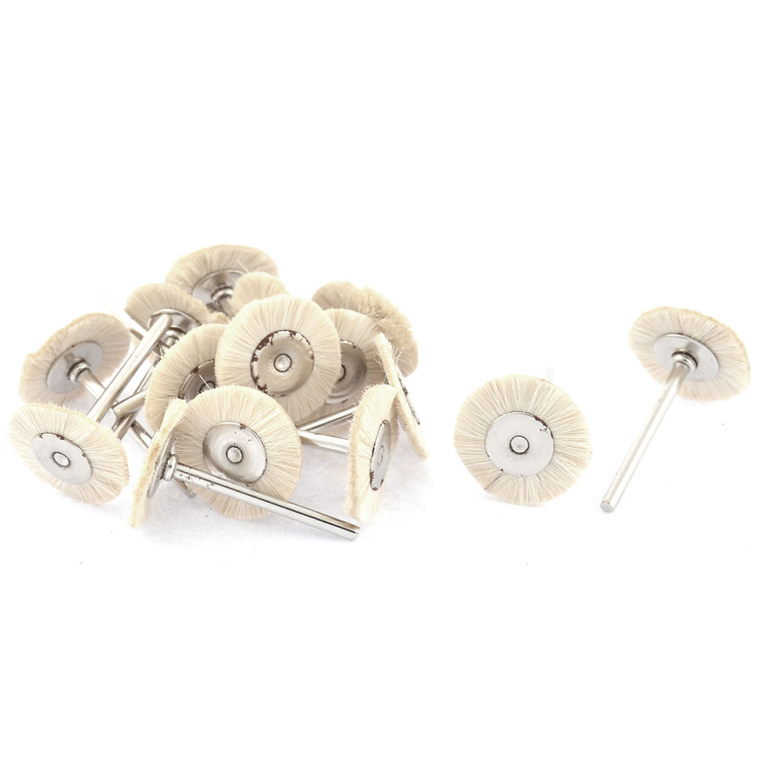 25mm Dia Head 3mm Shank Grinding Polishing Mounted Wheel White 15pcs