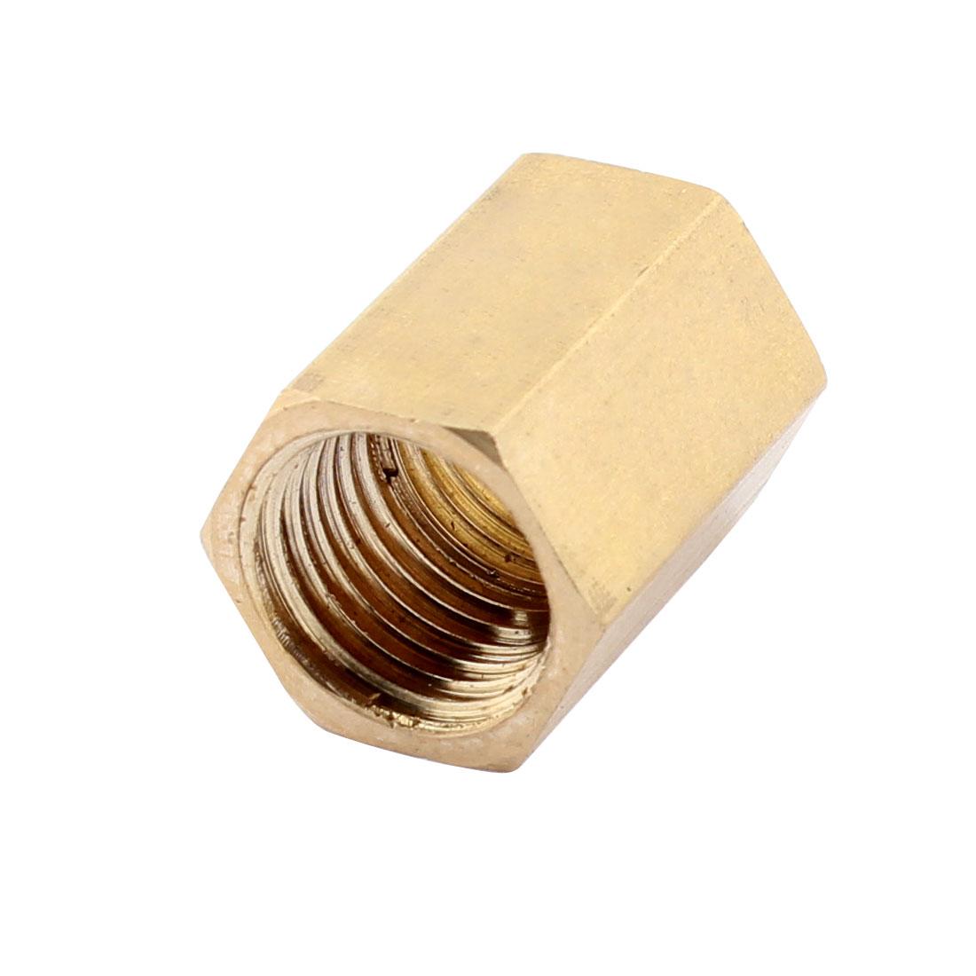 7/16 BSP Female Thread 20mm Length Dual Ends Brass Pillar Pipe Connector