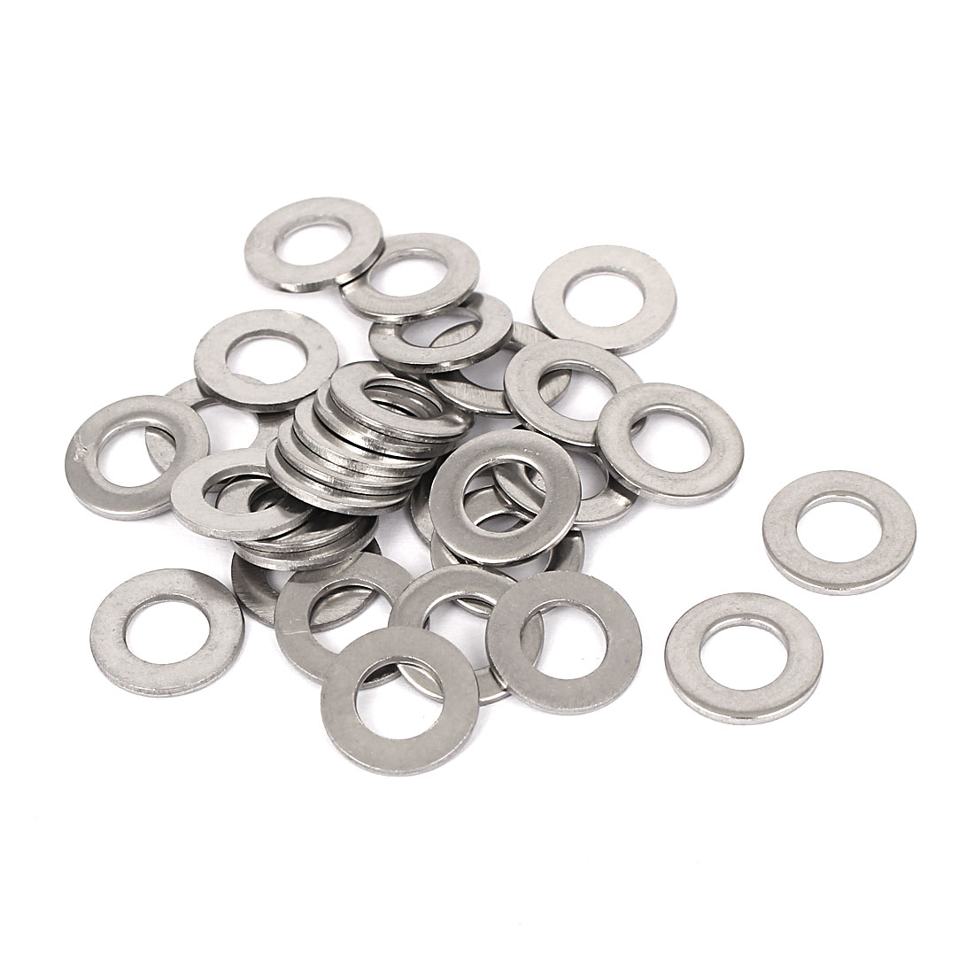 30pcs Stainless Steel Flat Washer Plain Spacer Gasket Seal Ring M8x16x1.6mm
