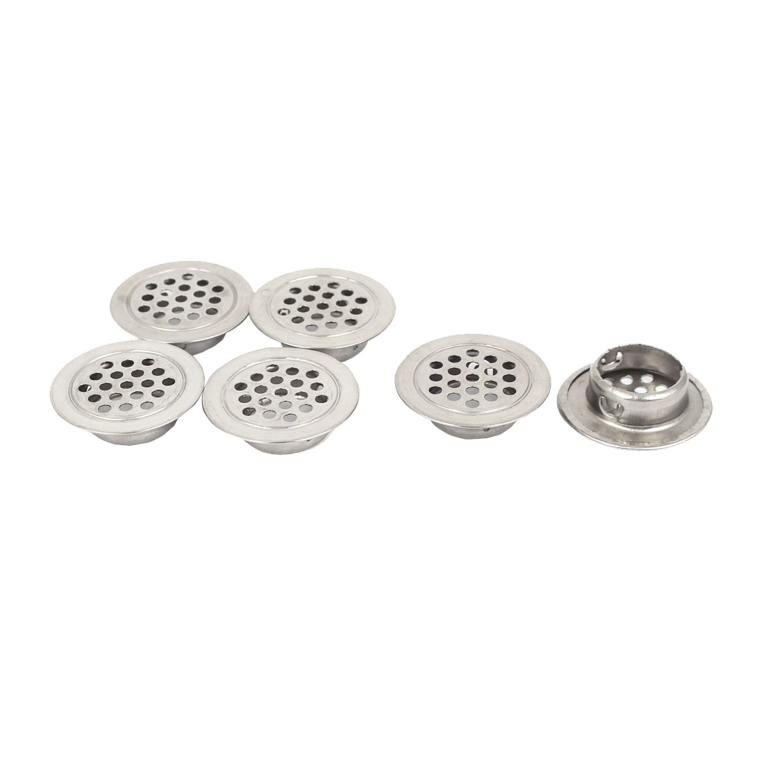 19mm Dia Flat Round Mesh Hole Stainless Steel Air Vents Ventilation Louvers 6pcs