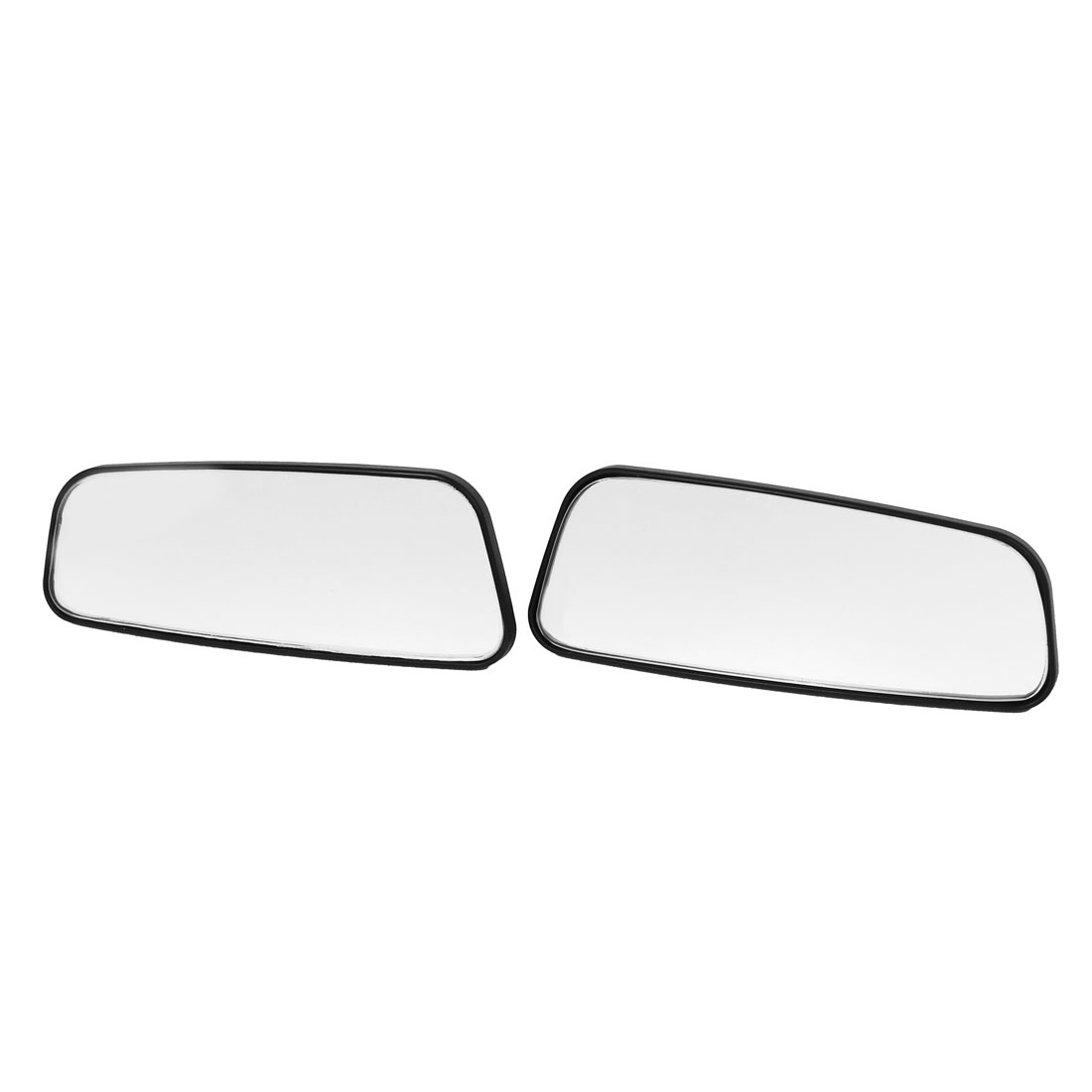 Auto Cars Stick-on Wide Angle Convex Blind Spot Rear View Mirror Black 2pcs