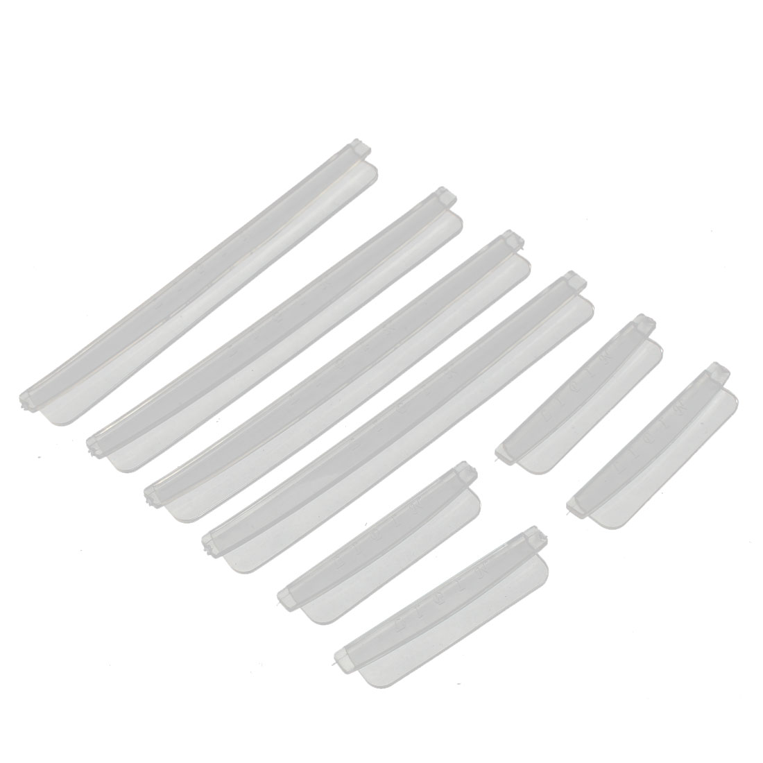 Plastic Auto Car Door Edge Scratch Strip Protector Guards Clear 8 in 1