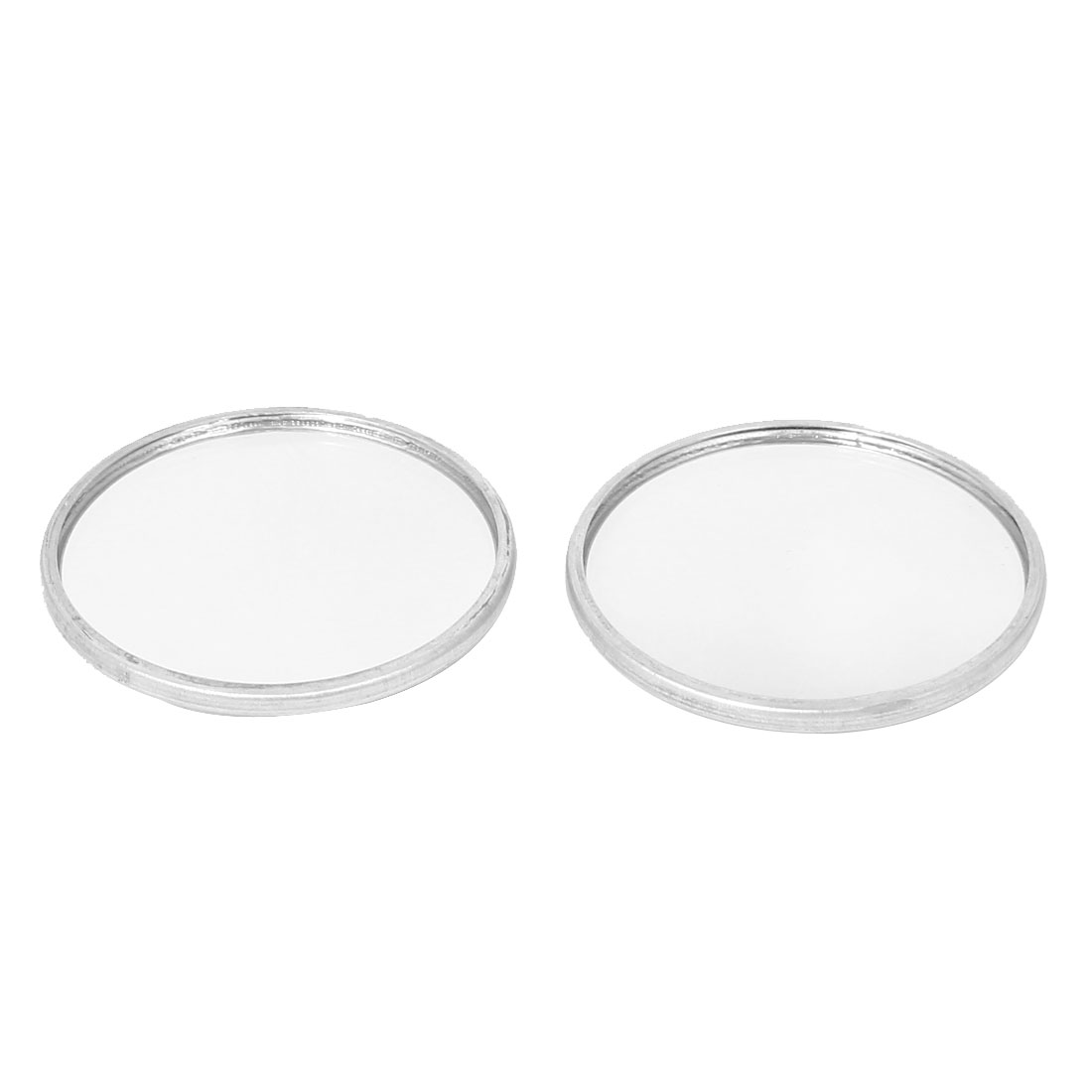 Universal Cars 37mm Dia Stick-on Wide Angle Convex Blind Spot Mirror Silver Tone 2pcs