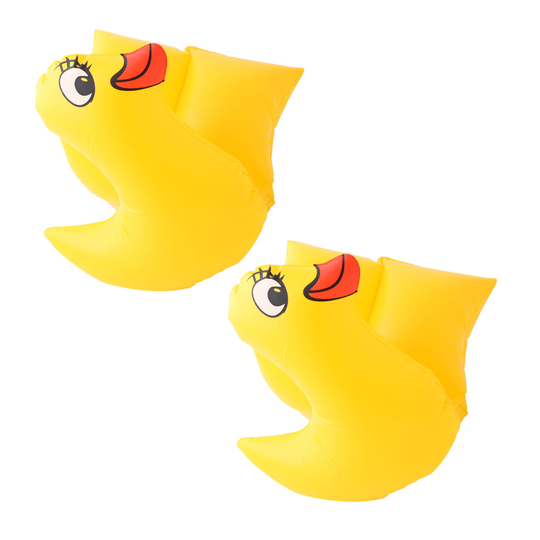 Swimming Pool Plastic Duck Shape Inflatable Floating Arm Ring Band Armlets Pair