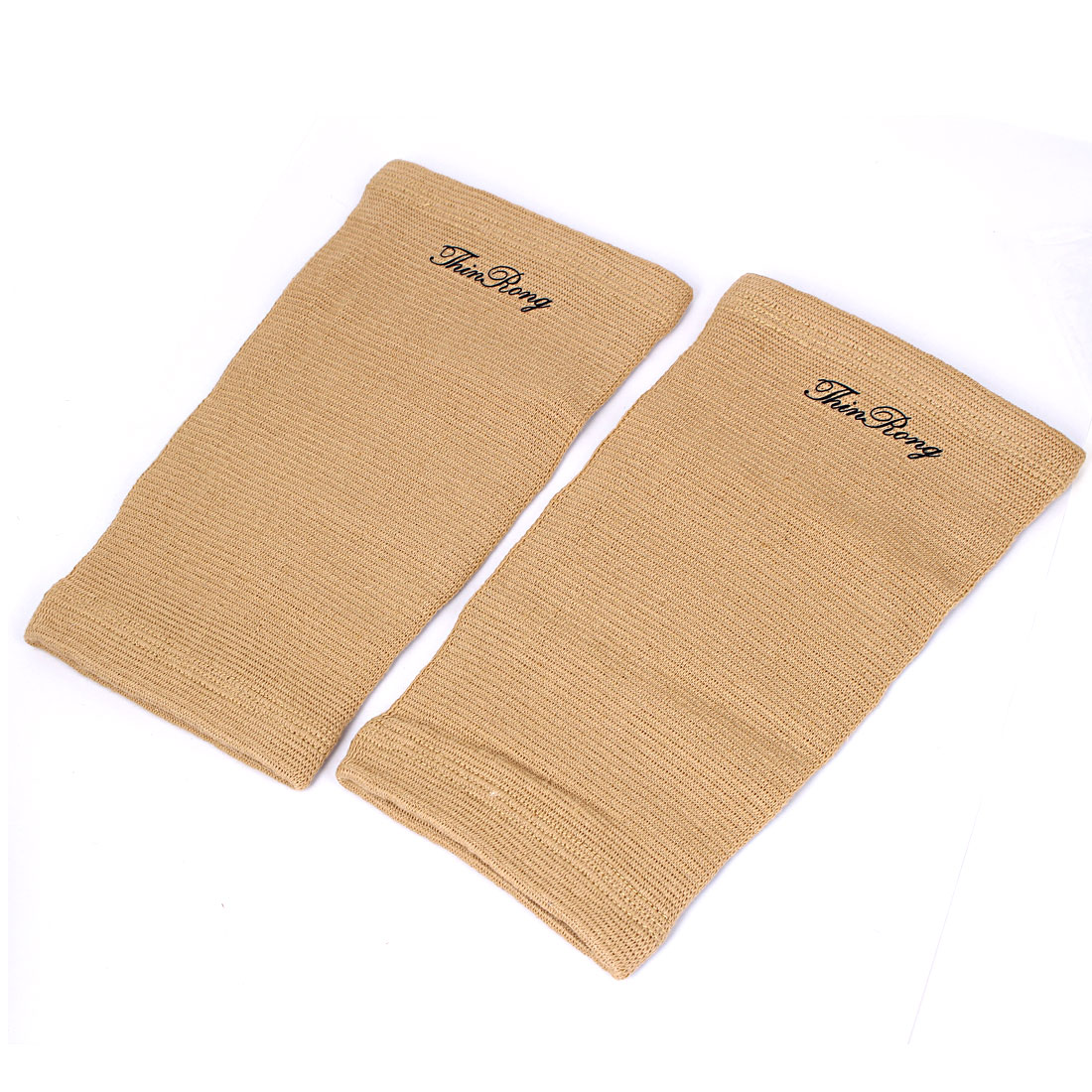 Basketball Football Sports Camel Color Elastic Hand Arms Elbow Supports Protectors Guard Pair