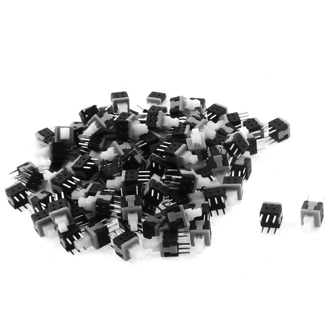 100PCS 6 Terminals Push Button Latching Action Tactile Switches