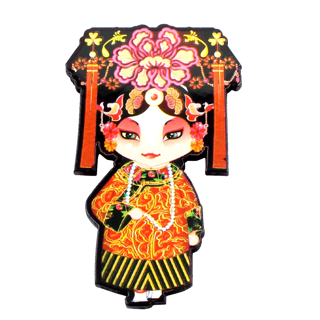 Chinese Traditional Peking Opera Character Fridge Magnetic Sticker Decor