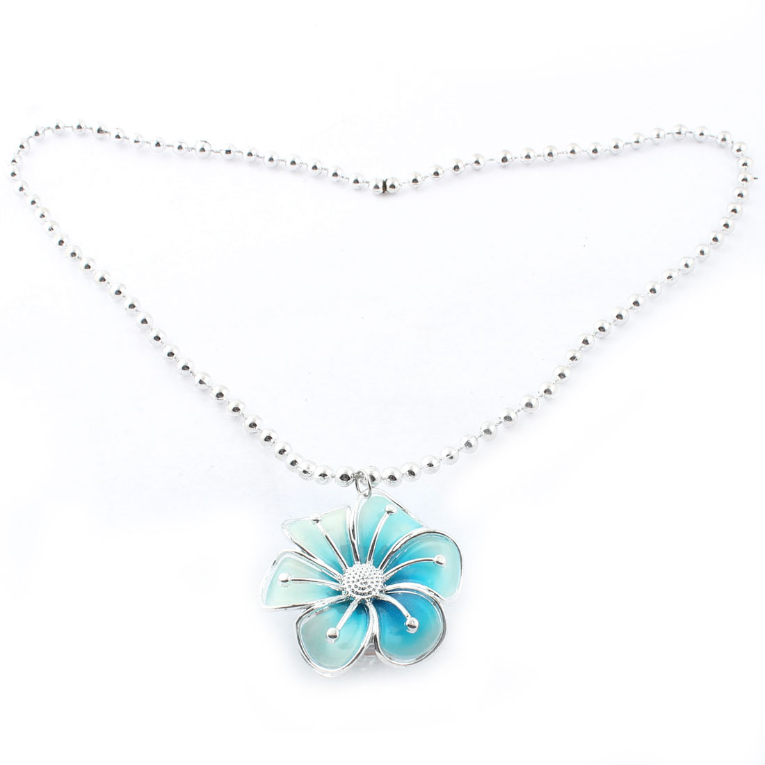 Party Flower Shape Light Up LED Flashing Necklace Pendant Gift