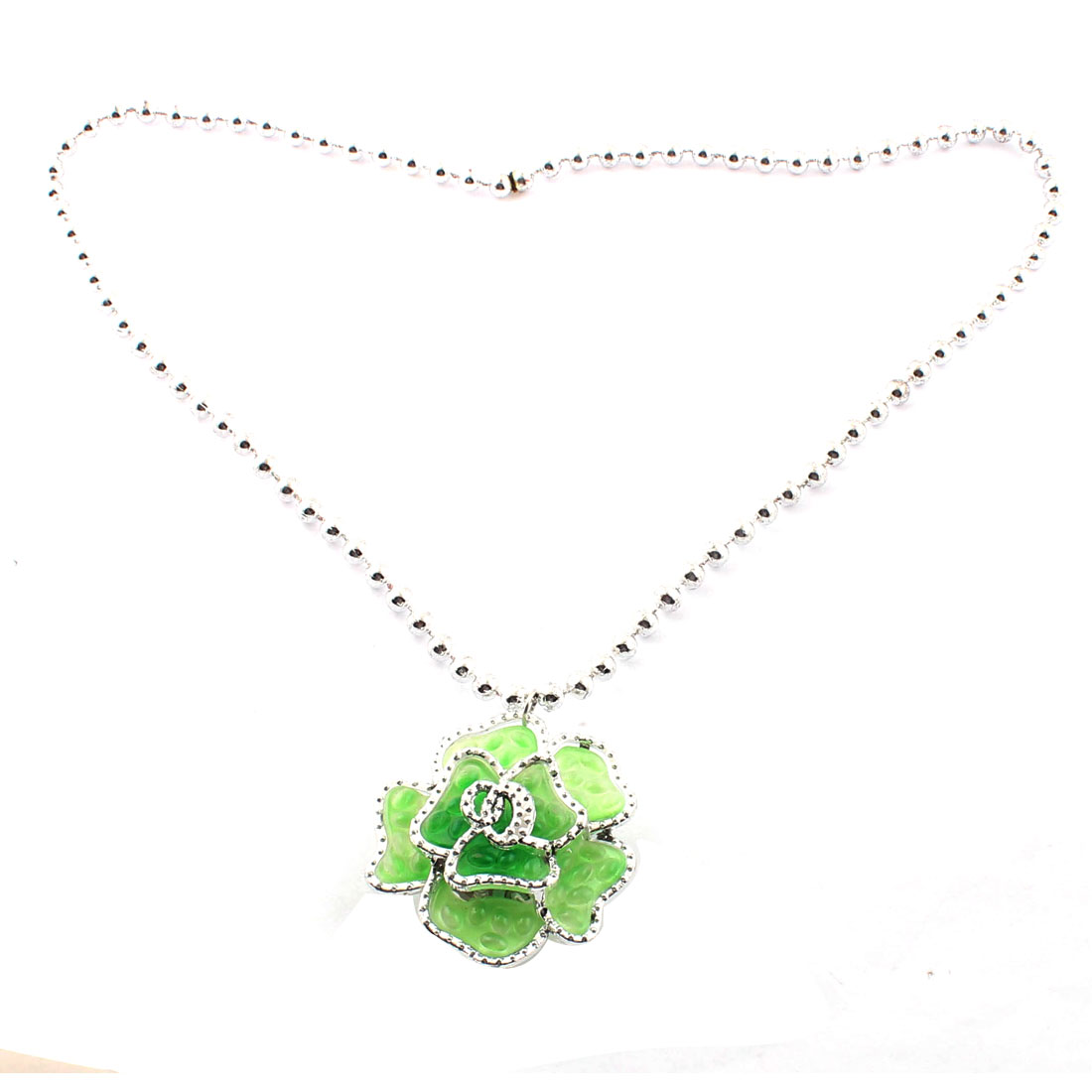 Flower Pendant Battery Operated Accessory Light Up Flashing Necklace