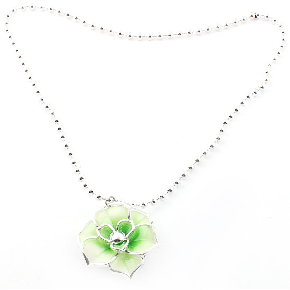 Flower Shape Pendant Light Up Party Holiday Flashing Glow LED Necklace
