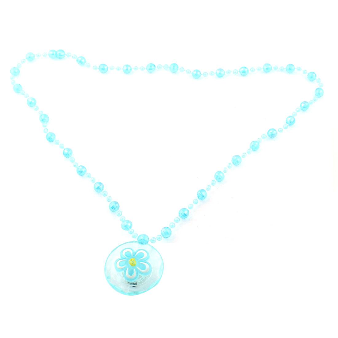 Round Pendant LED Light Up Flashing Blinking Neck Decor Glow Necklace