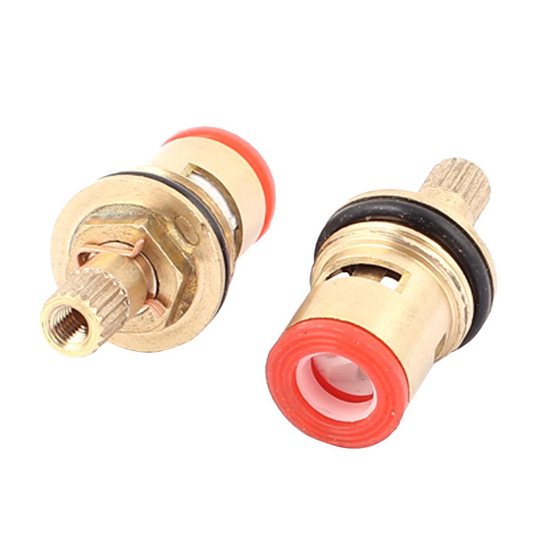 Kitchen Bathroom Brass Fitting Faucet Cartridge Valve 4mm Nozzle Thread 2PCS