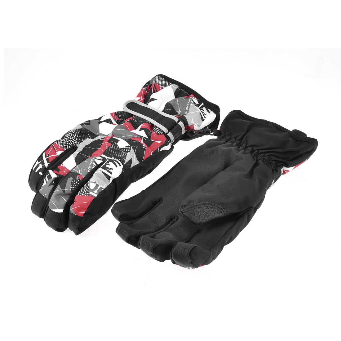 Adults Winter Outdoor Sports Skiing Ski Snowboard Gloves Black XL Pair
