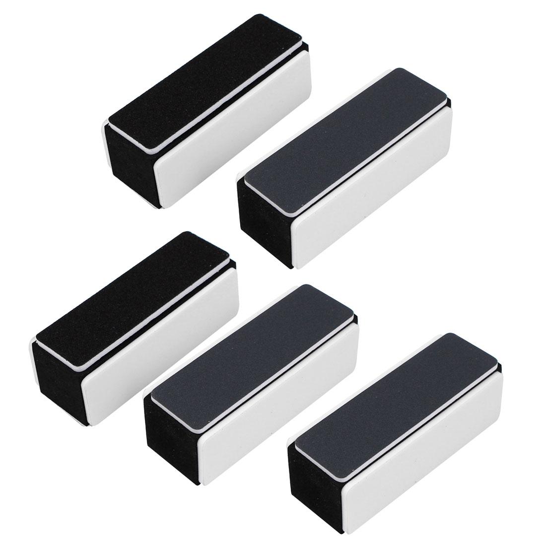 Nail Art Manicure 4 Way Shiner Buffer Buffing Block Sanding File 5 Pcs