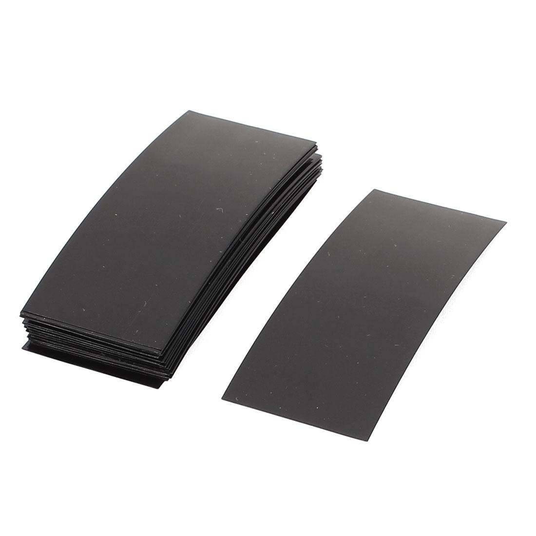 30pcs 72mm x 18.5mm PVC Heat Shrink Tubing Black for 1 x 18650 Battery