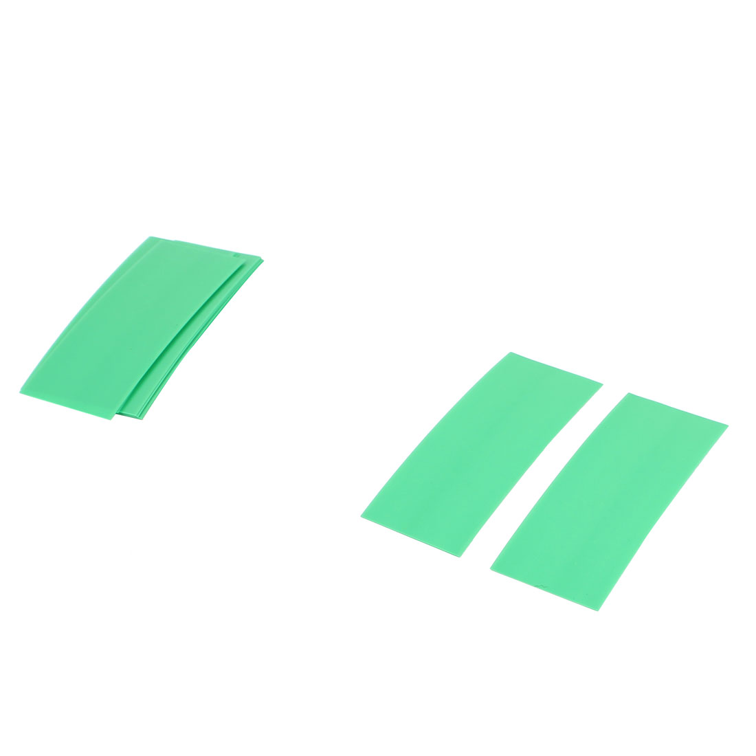 10pcs 72mm x 18.5mm PVC Heat Shrink Tubing Green for 1 x 18650 Battery
