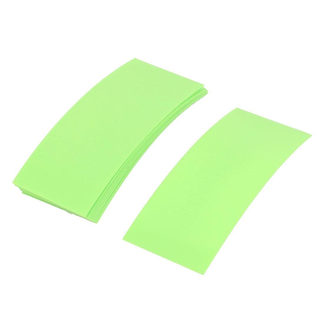 10pcs 72mm x 18.5mm PVC Heat Shrink Tubing Fruit Green for 1 x 18650 Battery
