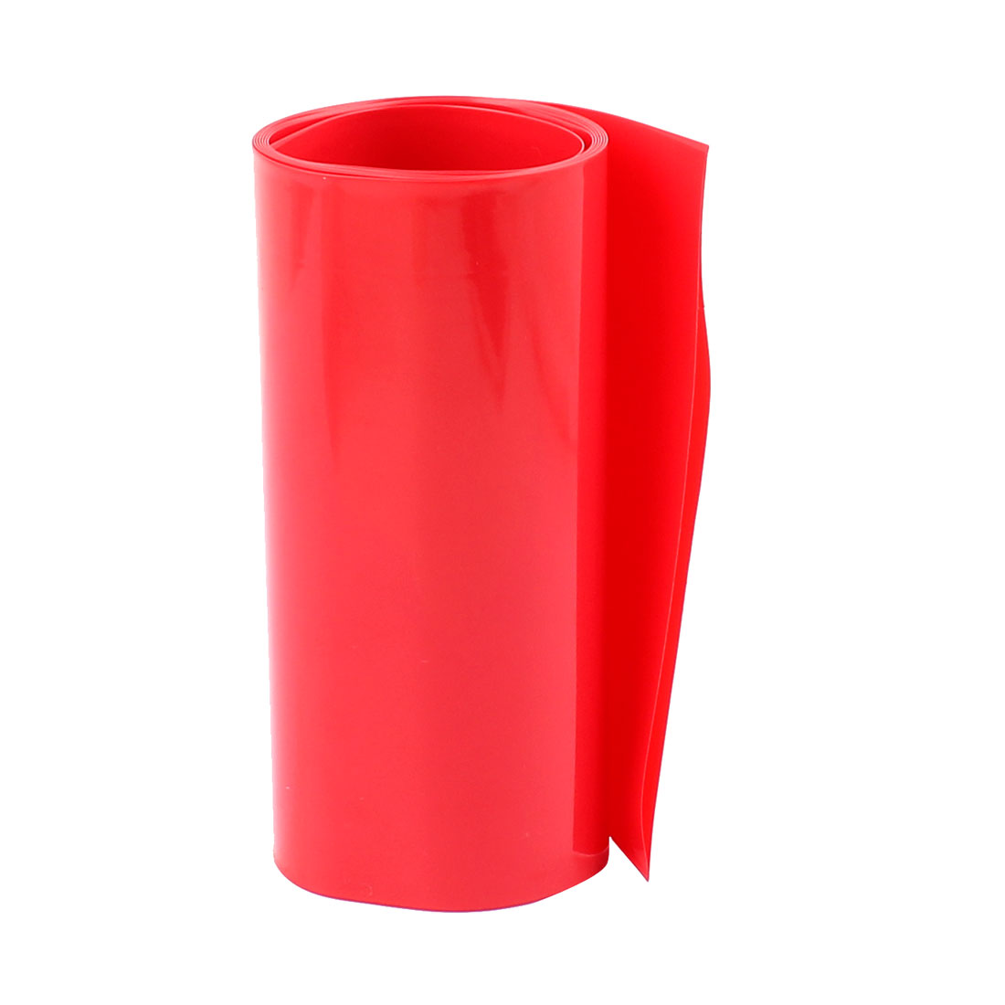 3.3ft 103mm Flat 65mm Dia PVC Heat Shrink Tubing Red for 18650 Battery