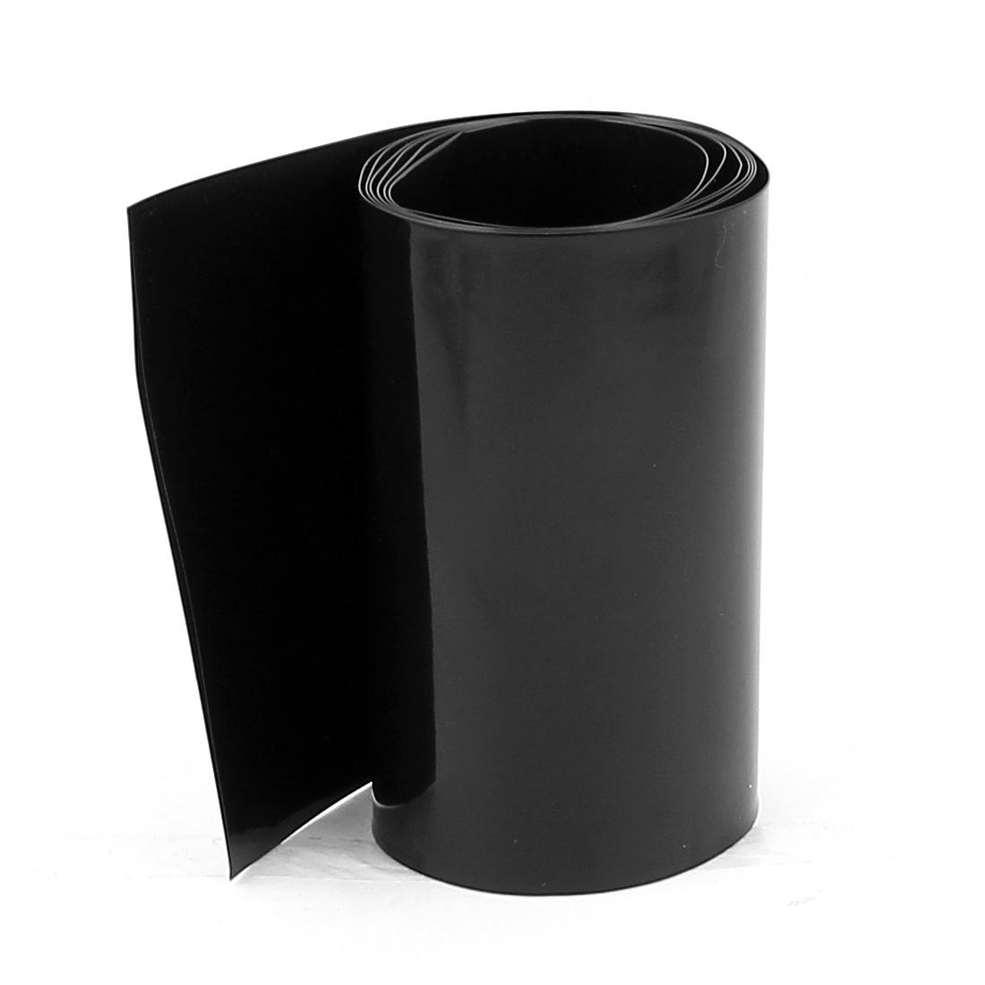3.3ft 85mm Flat 54mm Dia PVC Heat Shrink Tubing Black for 4 x 18650 Battery