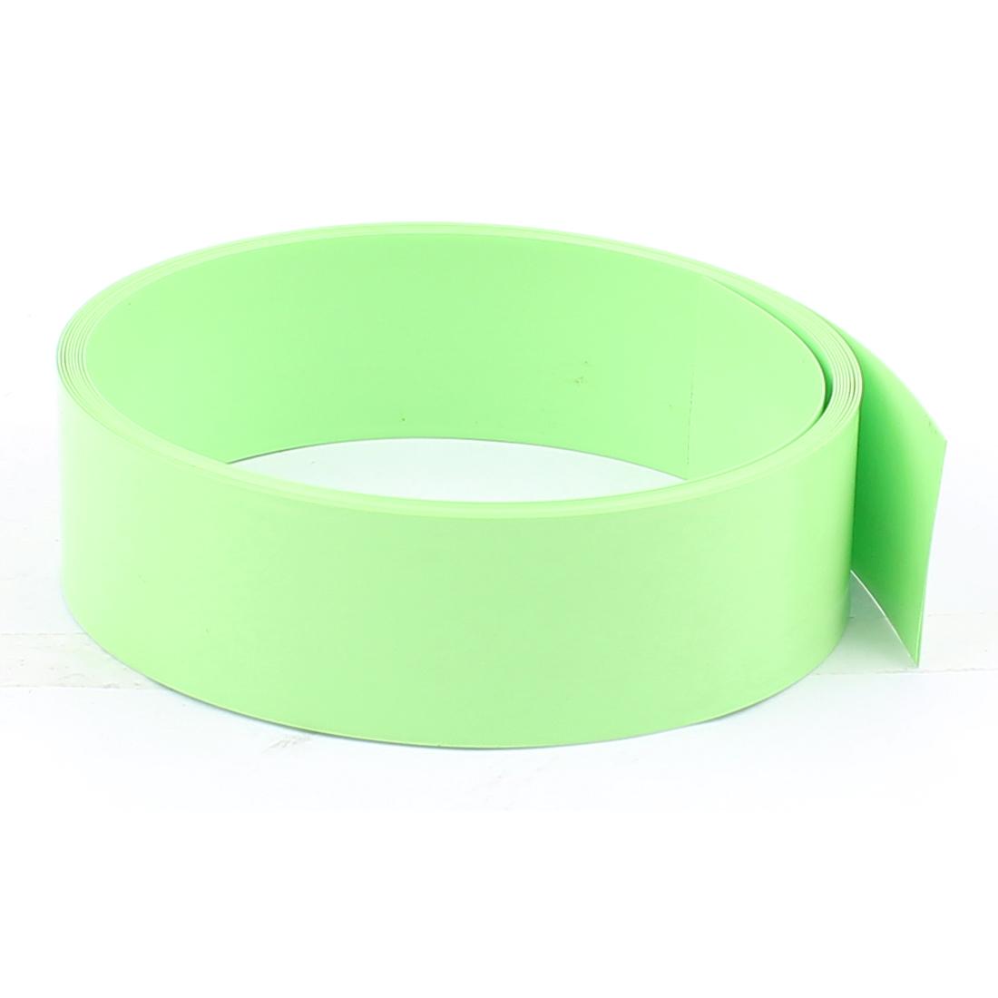6.6ft 23mm Flat Width PVC Heat Shrink Tubing Fruit Green for 1 x AA Battery Pack