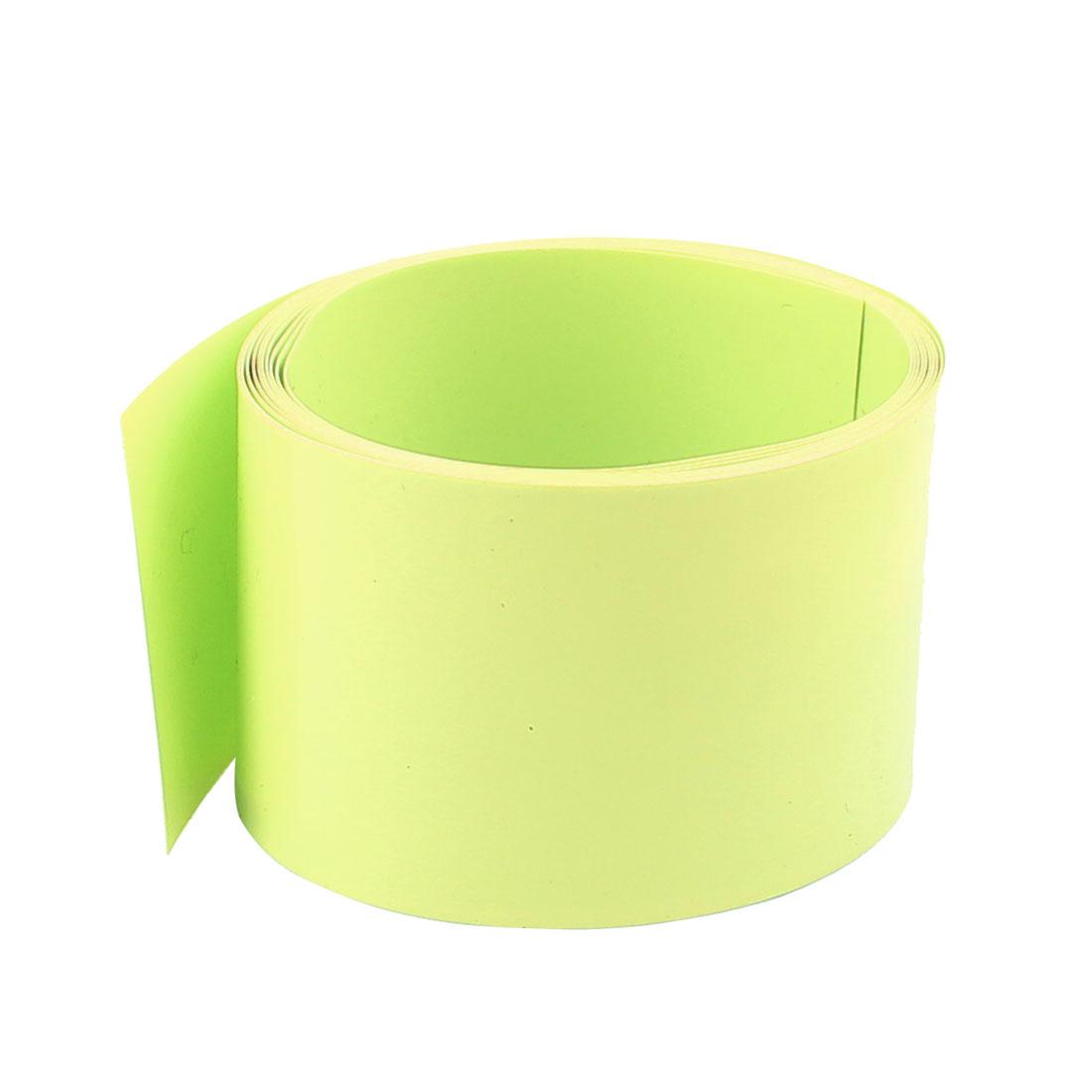 6.6ft 43mm Flat 27mm Dia PVC Heat Shrink Tubing Green for Battery Pack