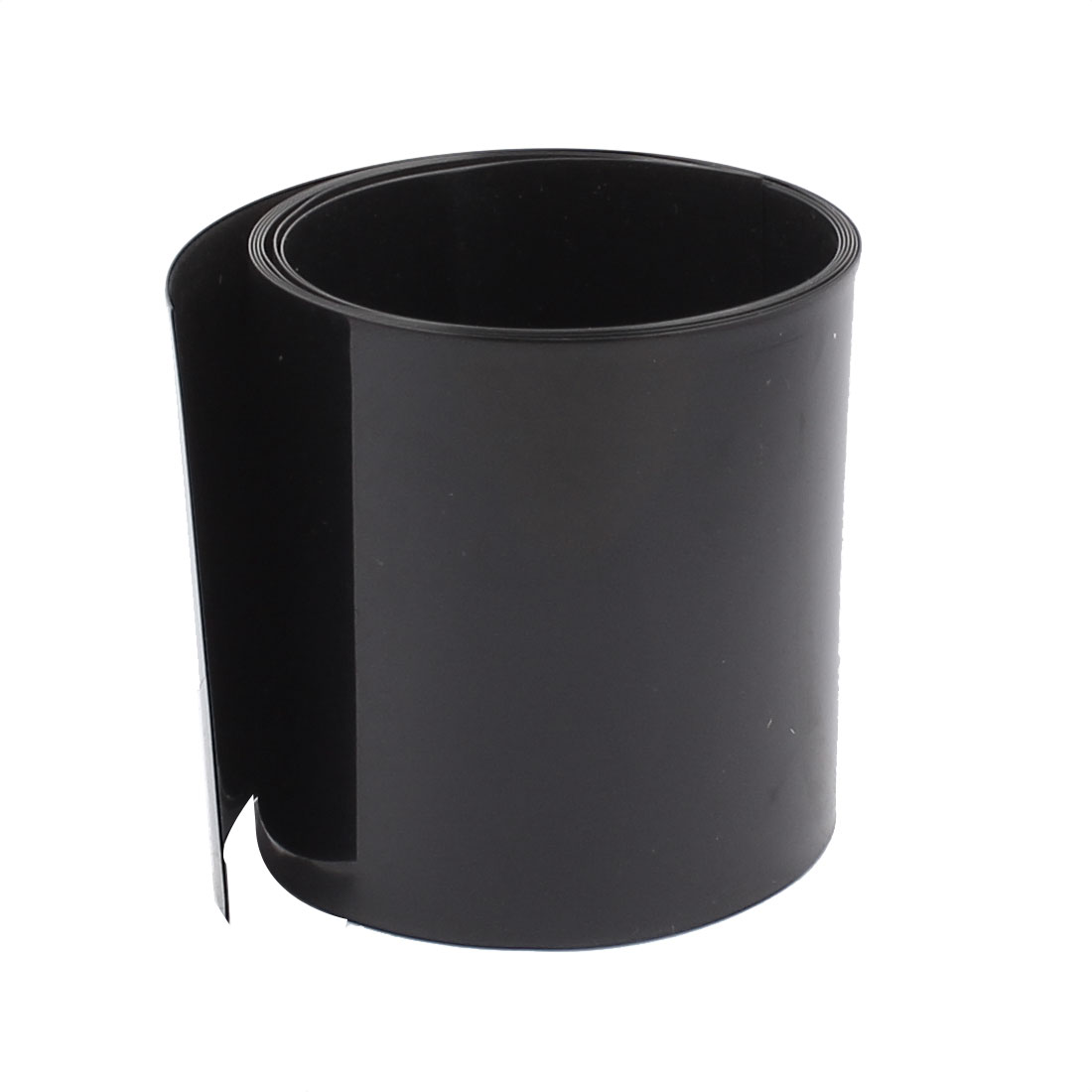 3.3ft 55mm Flat 35mm Dia PVC Heat Shrink Tubing Black for for AAA Battery Pack