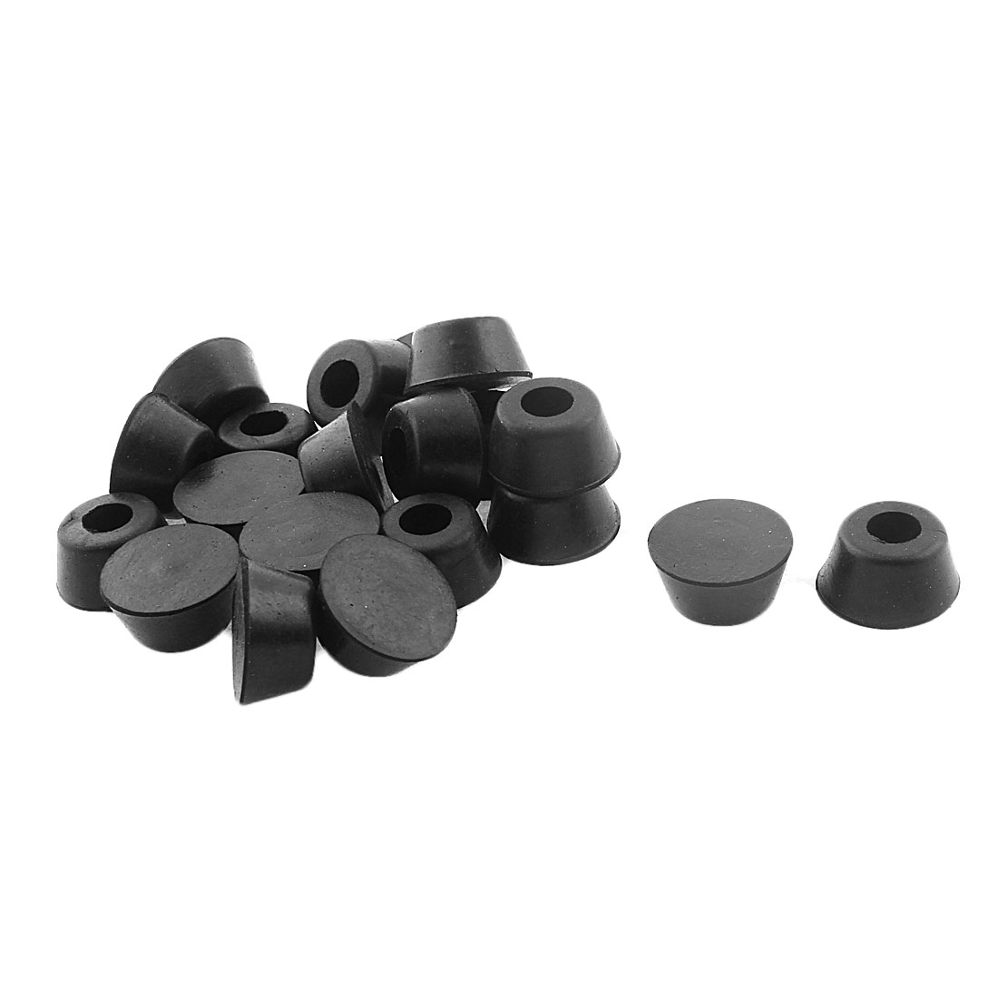 21mm x 17mm x 10mm Cabinet Amplifier Speaker Furniture Table Chair Rubber Feet Pad Black 20pcs