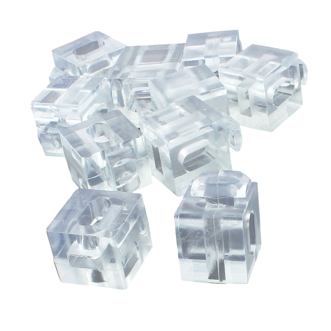 Aluminum Profile 30 Series Spacer Fastener Organic Glass Connector Block Clear 10pcs