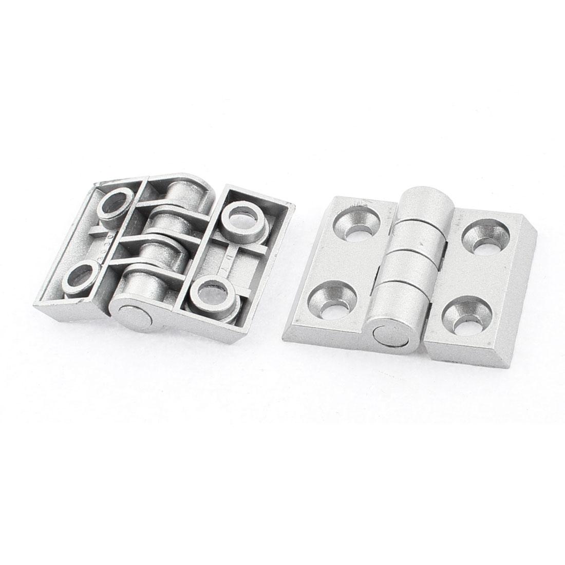 53mm x 40mm x 13mm Cupboard Cabinet Door Metal Butt Hinge Silver Tone 2pcs