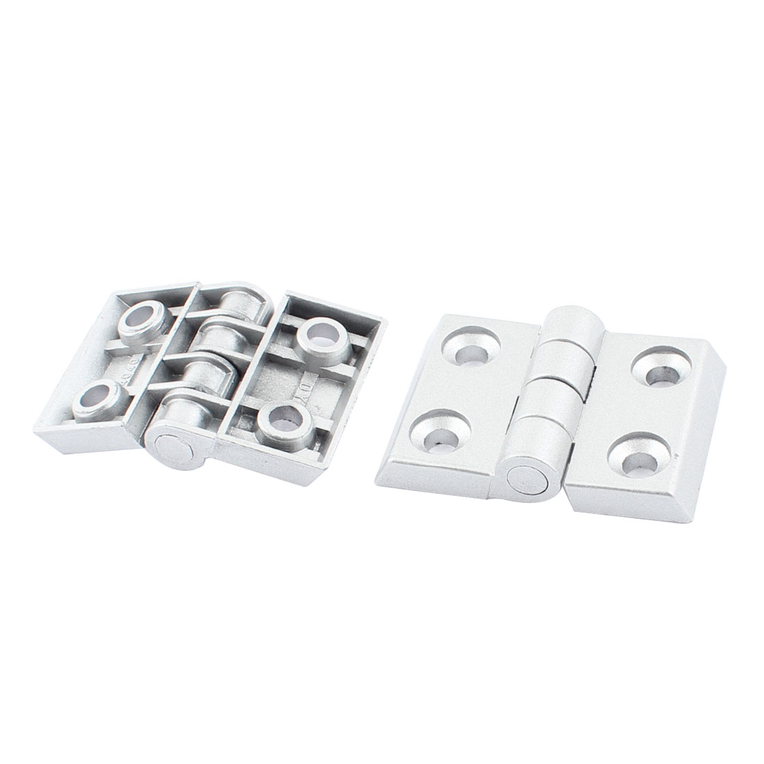 64mm x 45mm x 13mm Cupboard Cabinet Door Metal Butt Hinge Silver Tone 2pcs