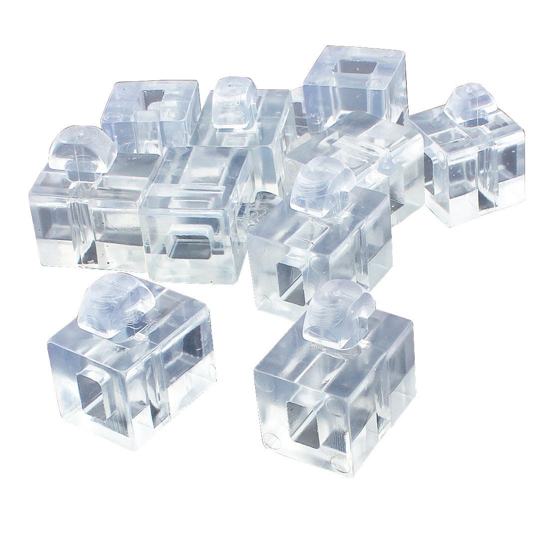 Aluminum Profile 40 Series Spacer Fastener Organic Glass Connector Block Clear 10pcs