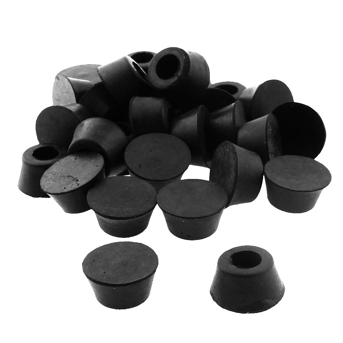 19mm x 14mm x 10mm Cabinet Amplifier Speaker Furniture Table Chair Rubber Feet Pad Black 30pcs