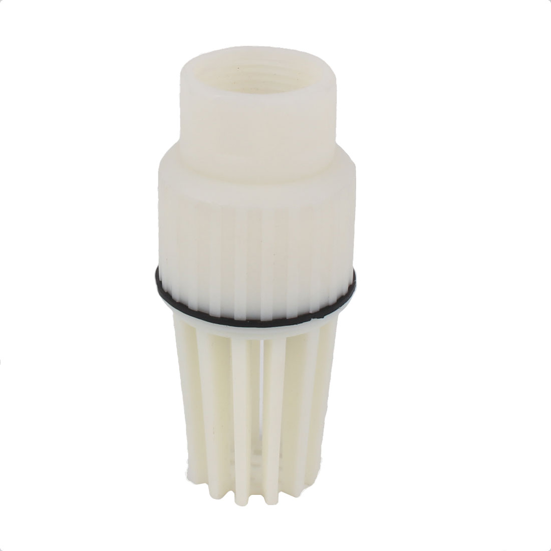 Fluid Machine Centrifugal Jet Pump 31mm Female Thread Plastic Foot Bottom Valve White