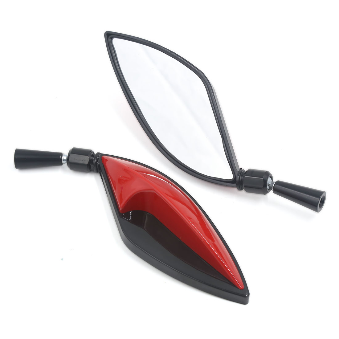 2pcs Universal Motorcycle Street Bike 8mm 10mm Thread Side Rearview Mirrors Red