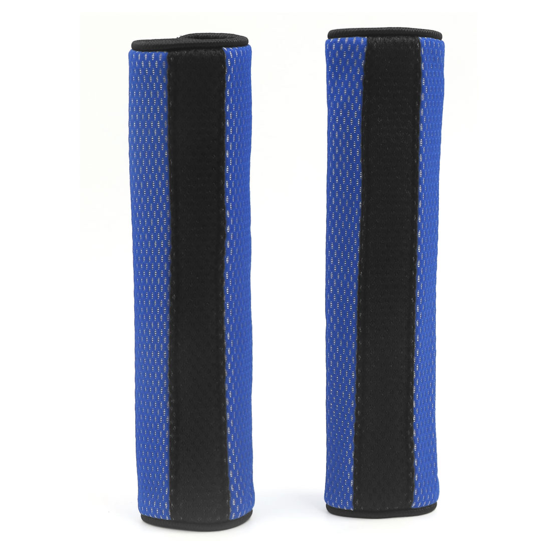 Car SUV Safety Seat Belt Shoulder Mesh Pads Cover Cushion Harness Pad Protector Blue Black 2 Pcs