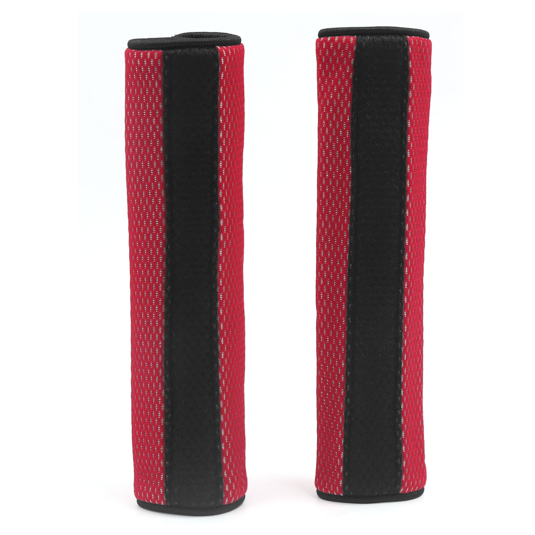 Pair Sponge Padded Hook Loop Fastener Car Seat Belt Cover Shoulder Cushion Pad