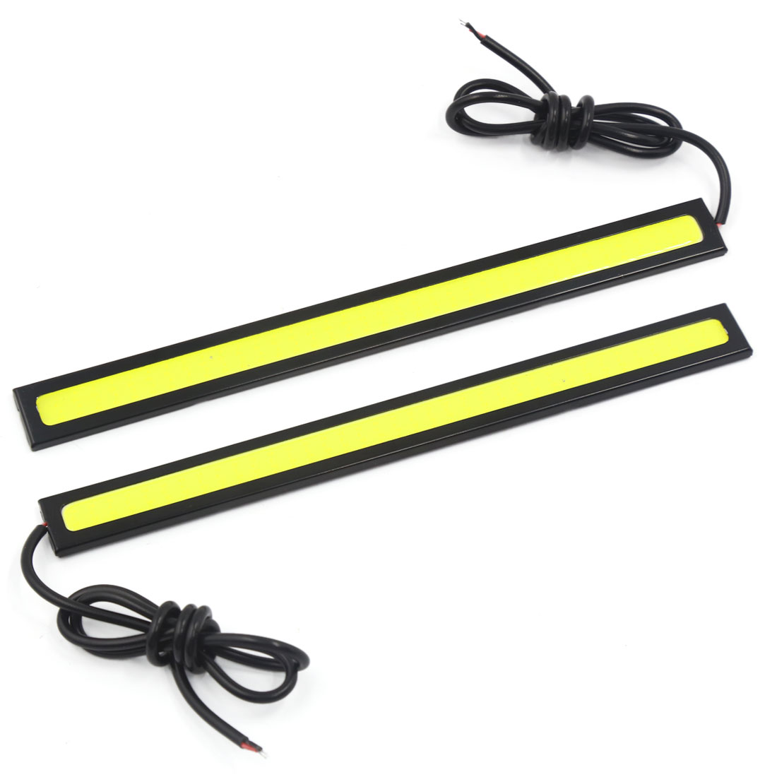 Pair White LED COB Slim Strip DRL Daytime Running Fog Light Driving Lamp 12V