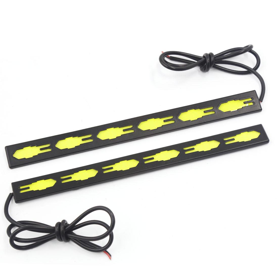 2 Pcs White COB LED Strip Daytime Running Light DRL Car Fog Day Driving Lamp